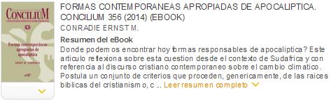 formas contemporaneas apropiadas de apocaliptica concilium 356 (2014) ebook