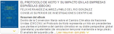 el protocolo de kioto y su impacto en las empresas españolas ebook
