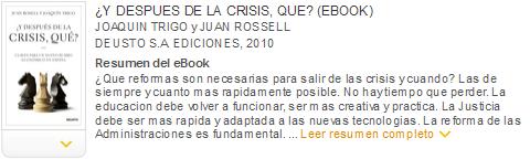 ¿Y después de la crisis, qué? ebook